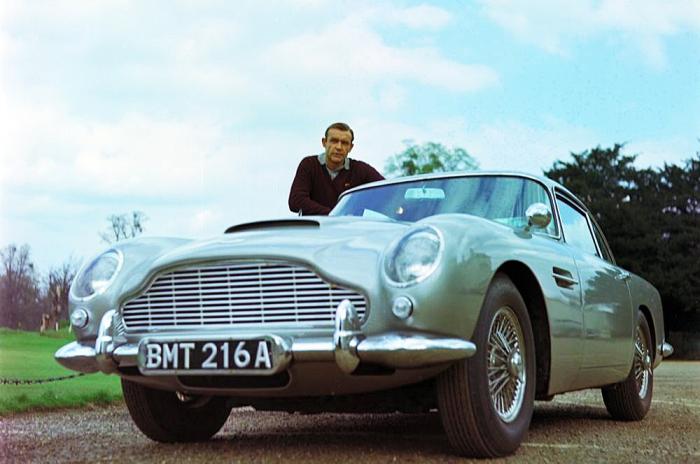 Мабуть найвідоміший автомобіль - Aston Martin DB5