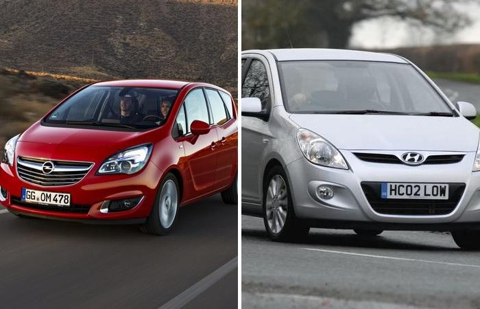 Hyundai i20 і Opel Meriva